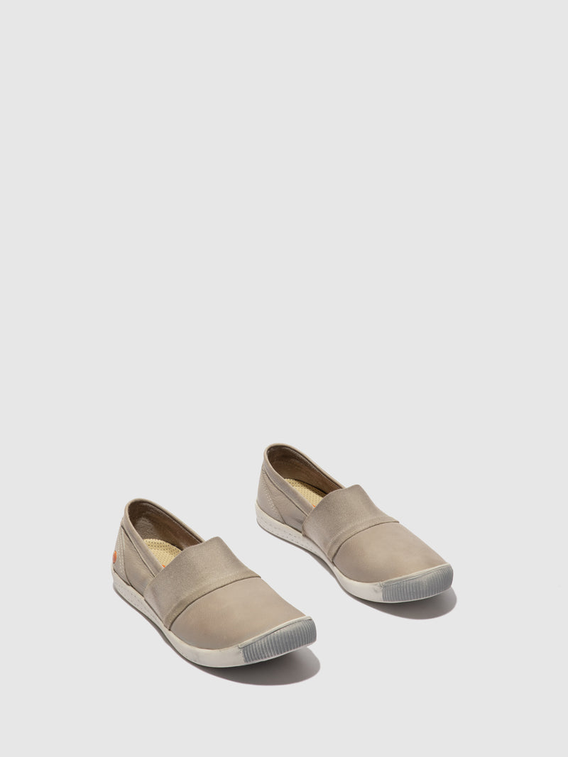 Softinos Elasticated Shoes INO497SOF WASHED LIGHT GREY