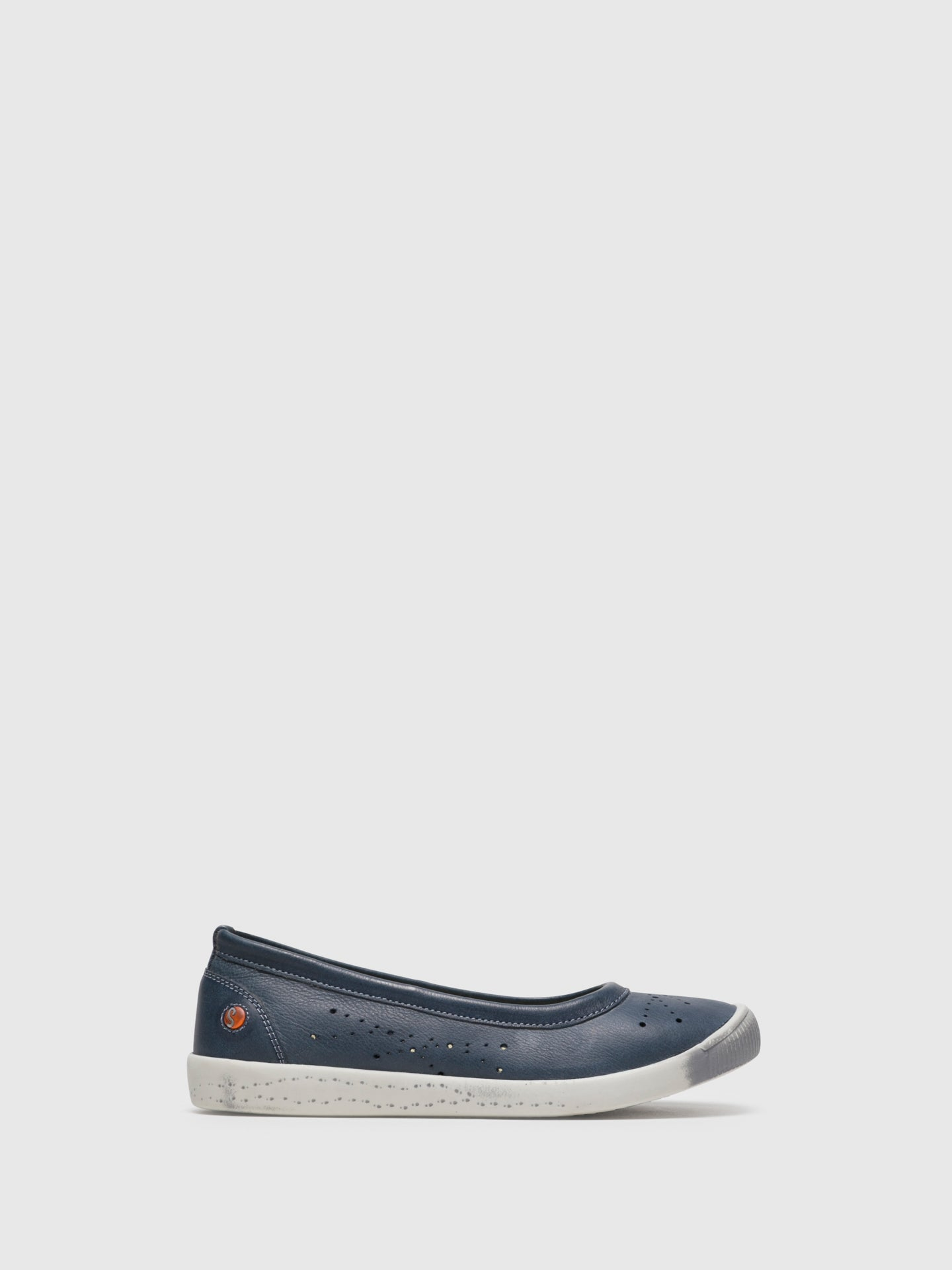 SOFTINOS Navy Round Toe Ballerinas