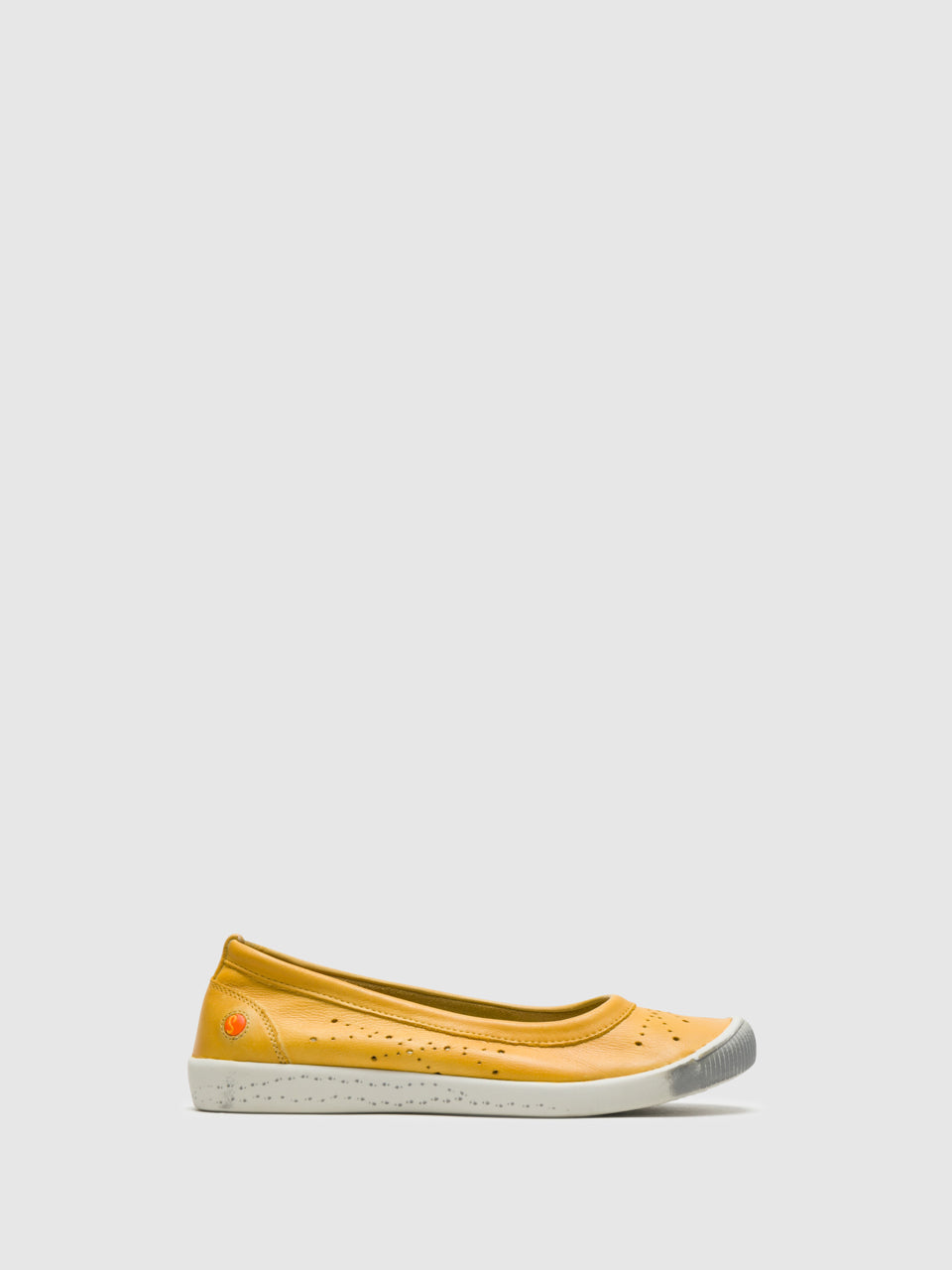 SOFTINOS Yellow Round Toe Ballerinas