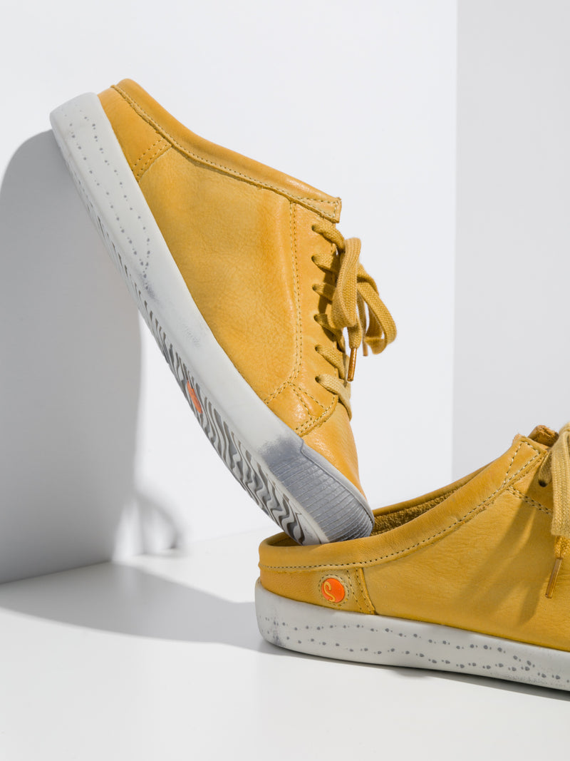 Yellow Lace-up Trainers