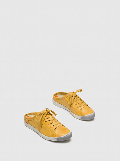 Softinos Yellow Lace-up Trainers