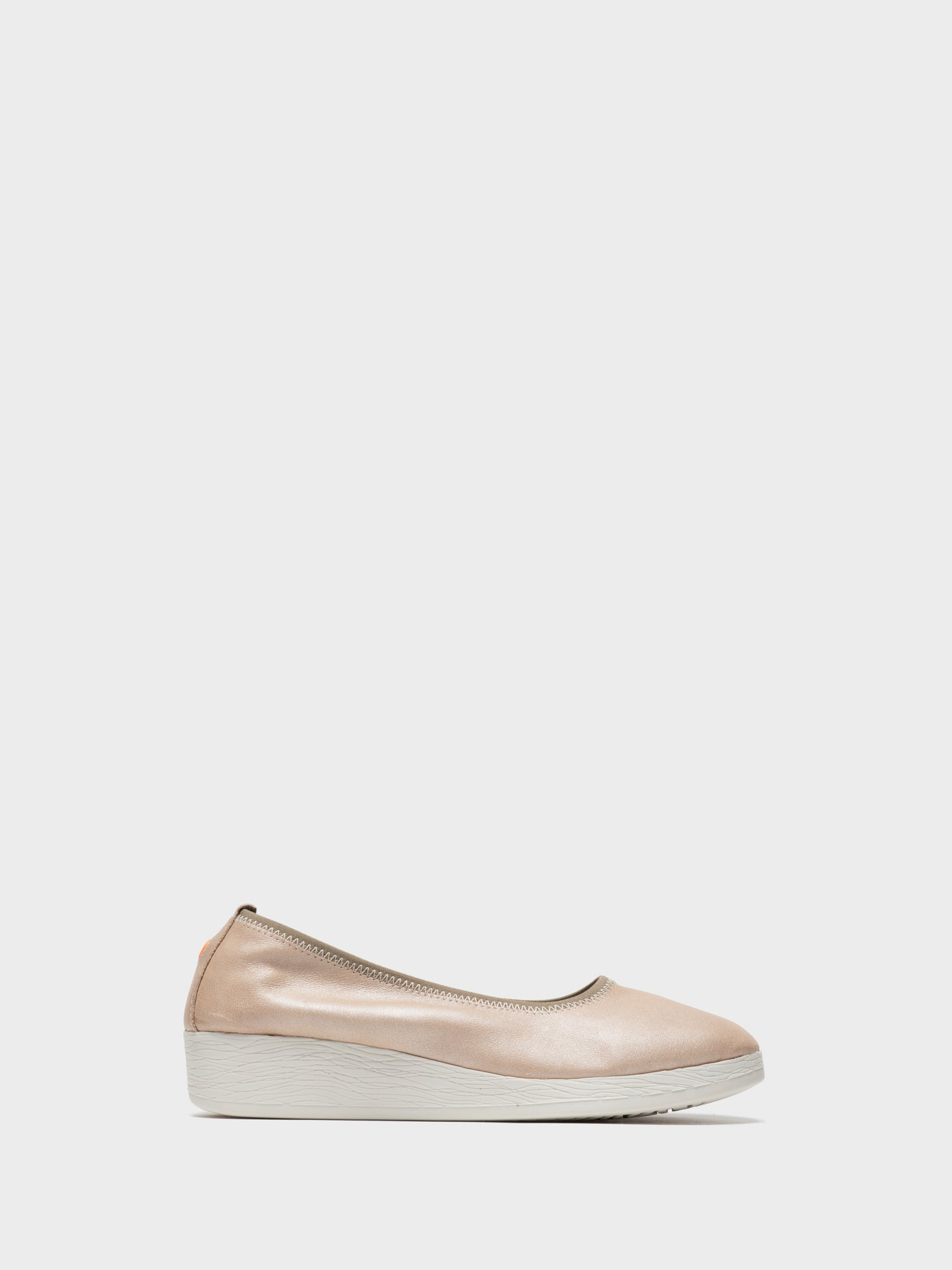 SOFTINOS Beige Elasticated Ballerinas