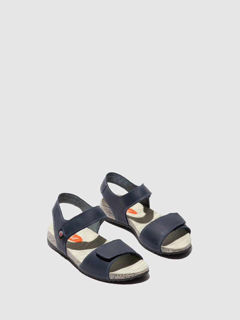 SOFTINOS Navy Velcro Sandals