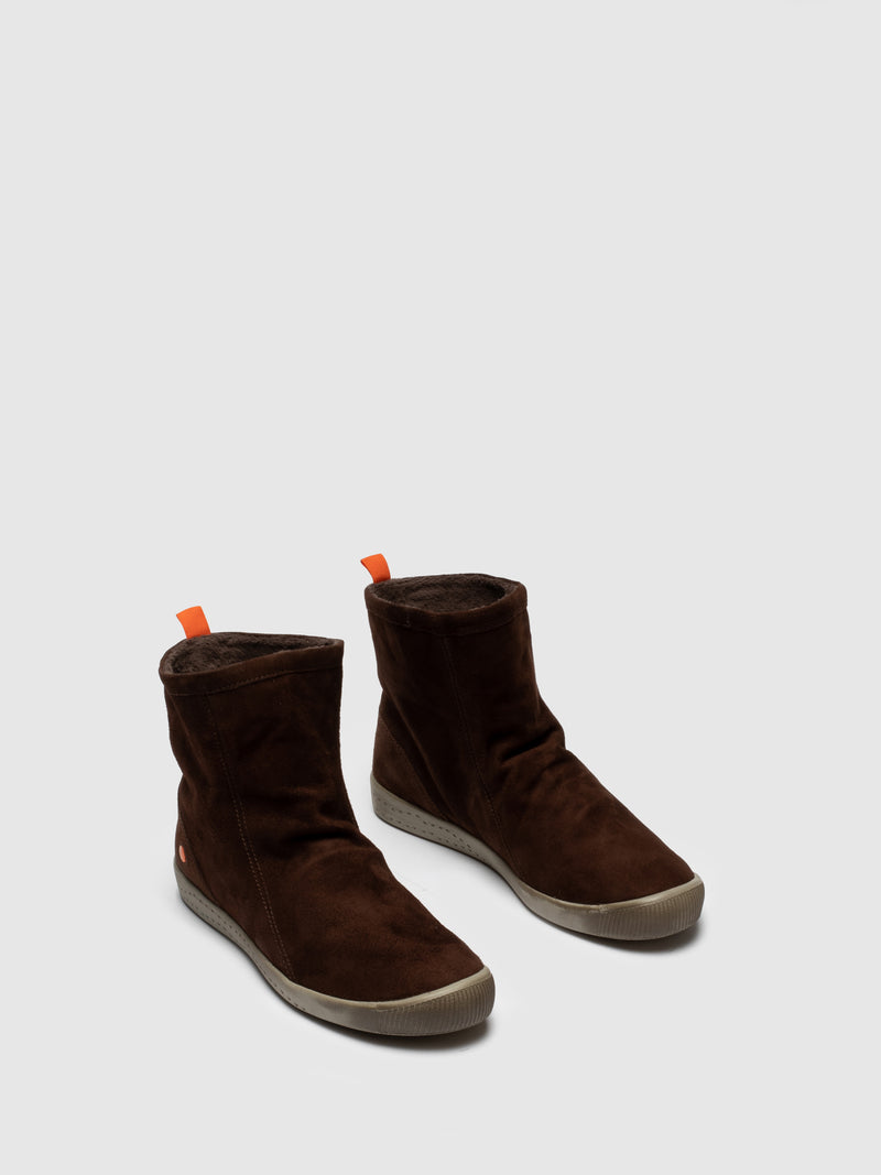 Brown Sock Ankle Boots