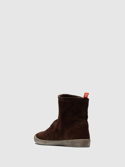 SOFTINOS Brown Sock Ankle Boots
