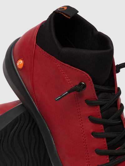 Softinos Hi-Top Trainers BIEL549SOF RED