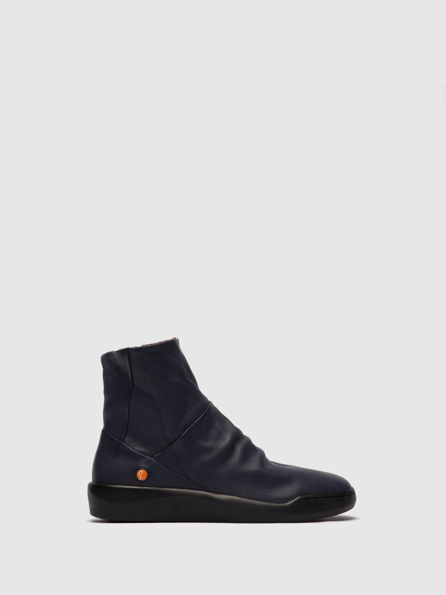 Softinos Zip Up Ankle Boots BLER550SOF NAVY
