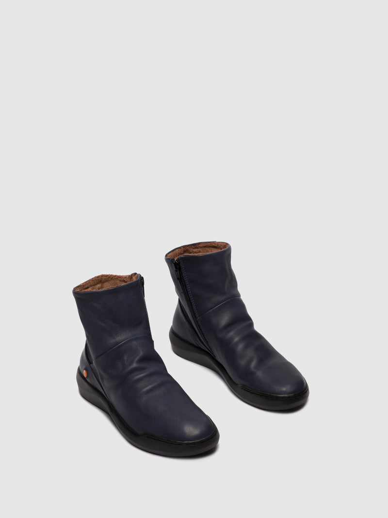 Zip Up Ankle Boots BLER550SOF NAVY