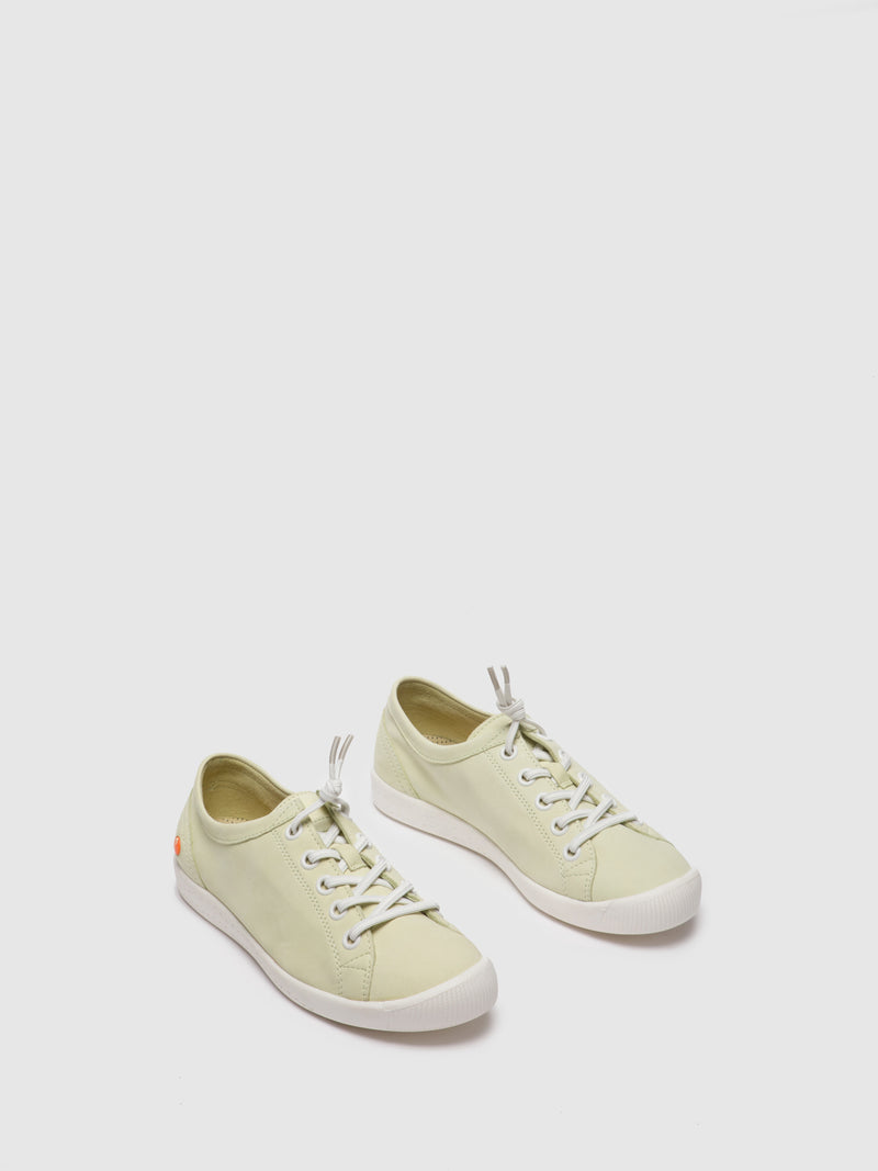 Softinos Lace-up Shoes ISLAII557SOF Baby Green