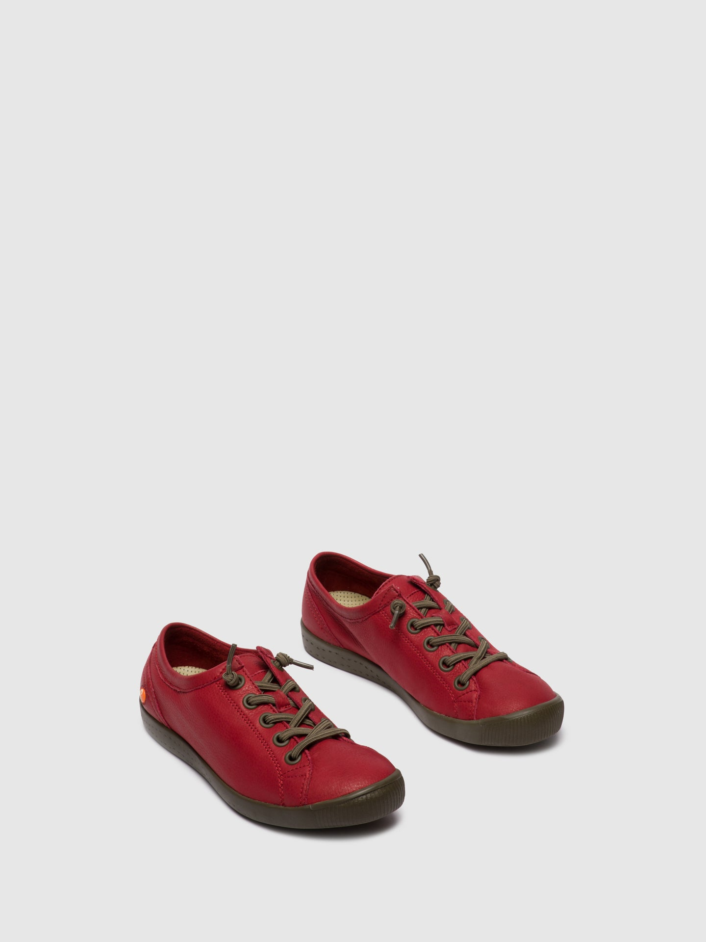Softinos Elasticated Trainers ISLAII557SOF RED
