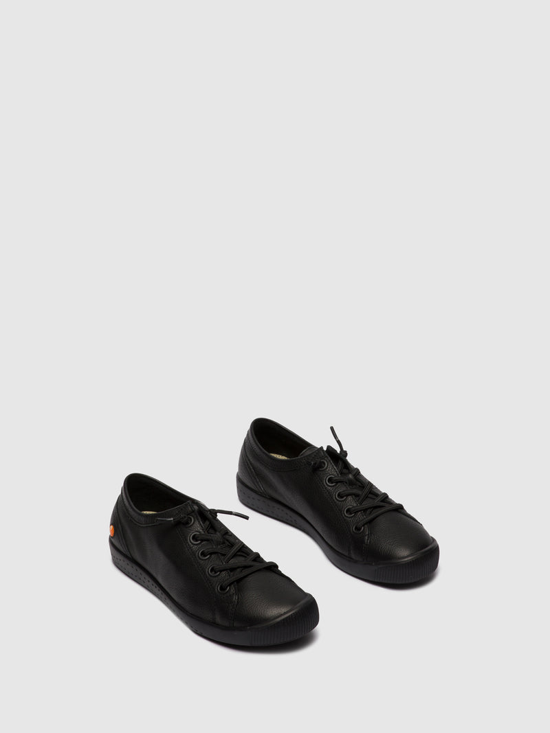 Softinos Elasticated Trainers ISLAII557SOF BLACK