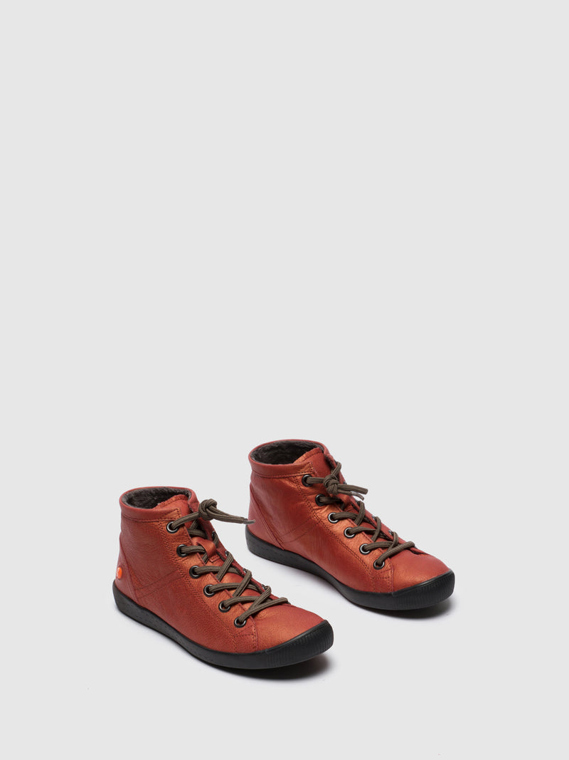 SOFTINOS Red Hi-Top Trainers