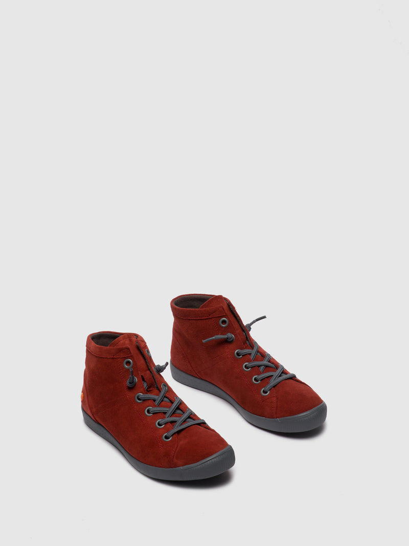 Softinos Hi-Top Trainers ISLEENII558SOF RED