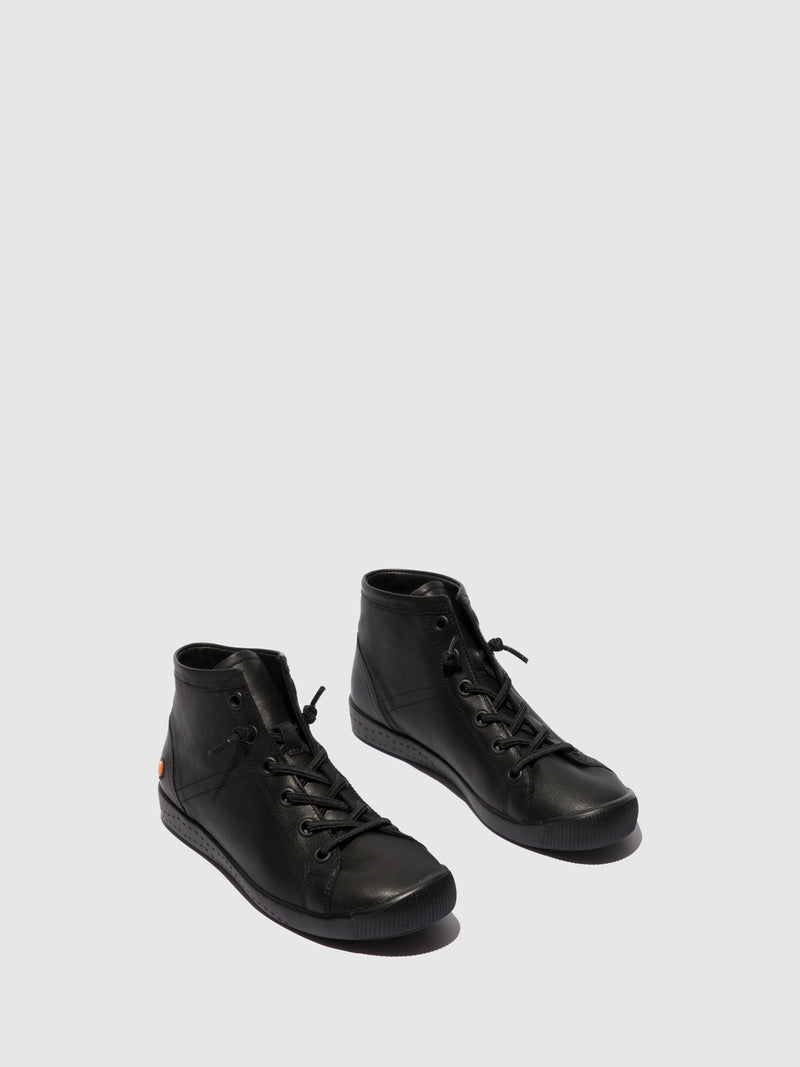 Softinos Hi-Top Trainers ISLEENII558SOF BLACK