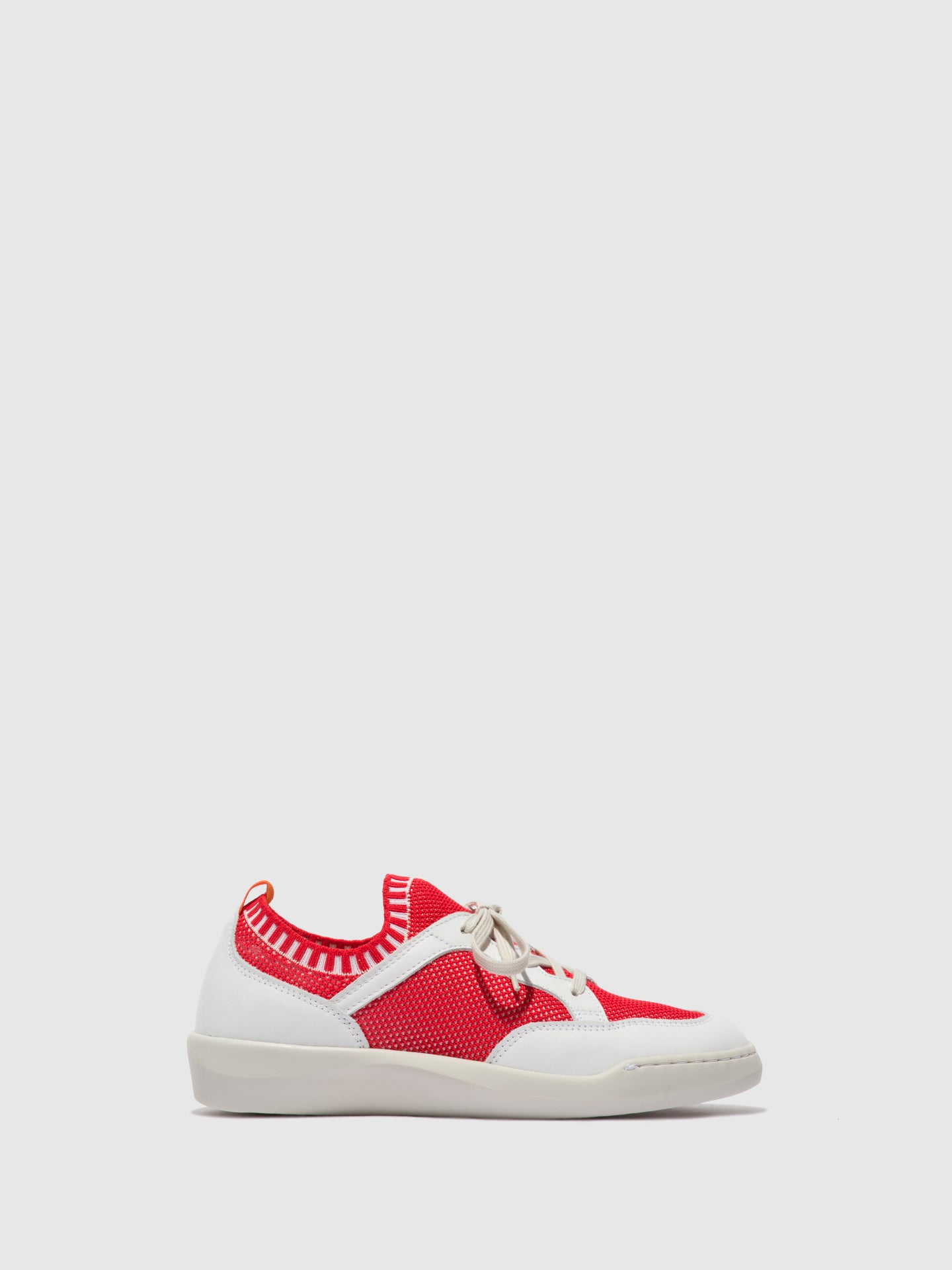 Softinos Lace-up Trainers BEAE565SOF RED/WHITE