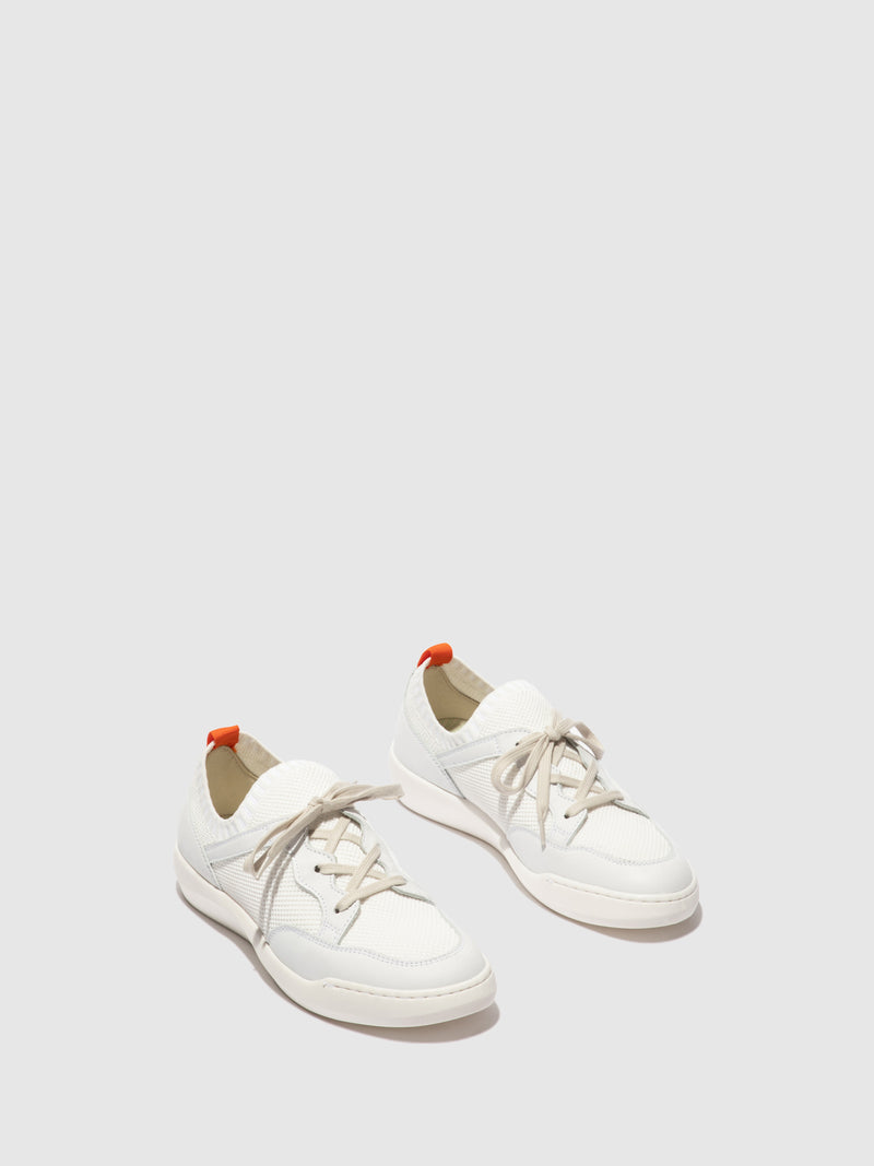 Softinos Lace-up Trainers BEAE565SOF WHITE/WHITE