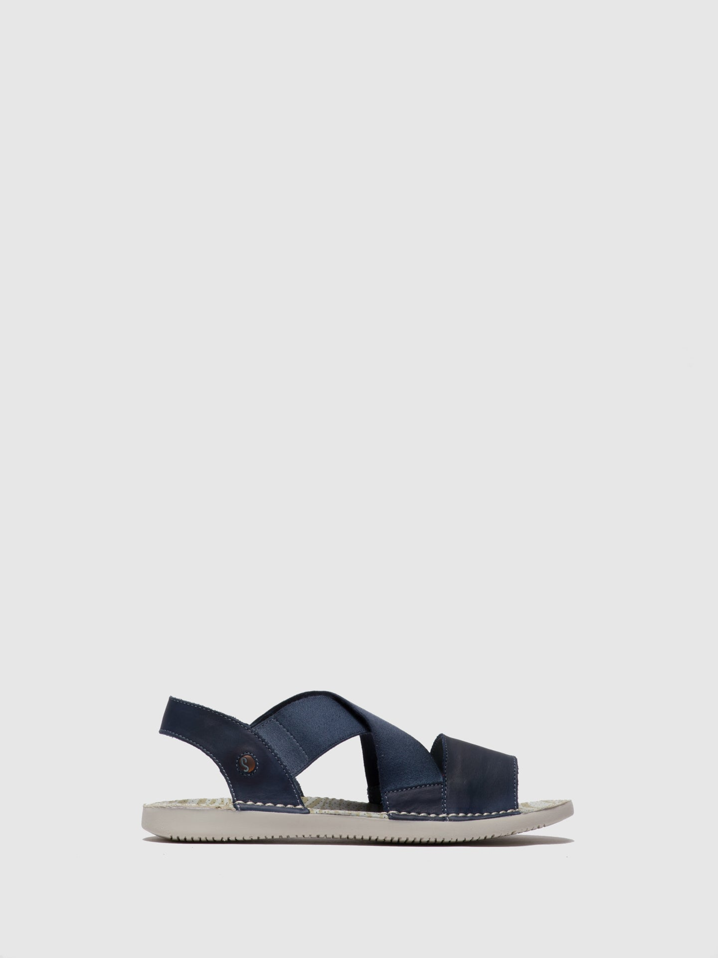 SOFTINOS Navy Crossover Sandals
