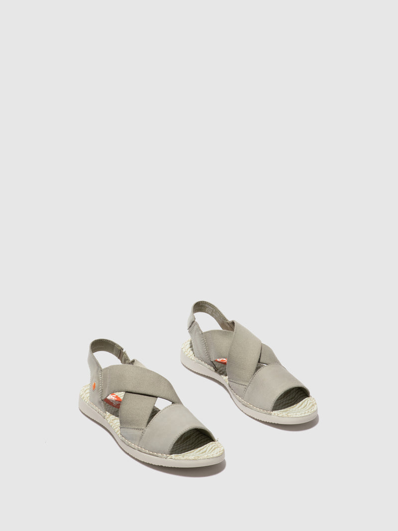 Softinos Crossover Sandals TEUL580SOF WASHED LIGHT GREY