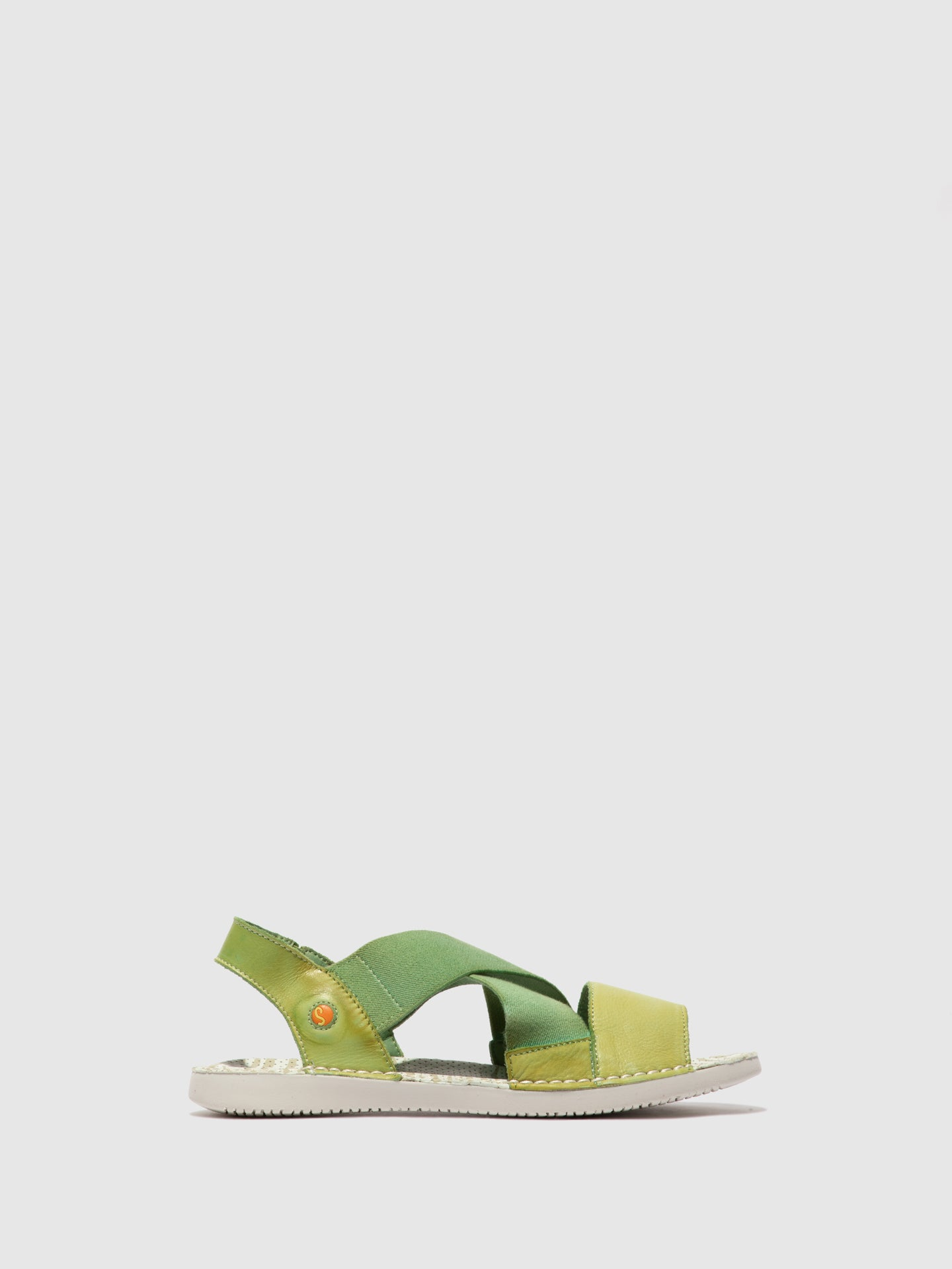Softinos Crossover Sandals TEUL580SOF WASHED APPLE GREEN