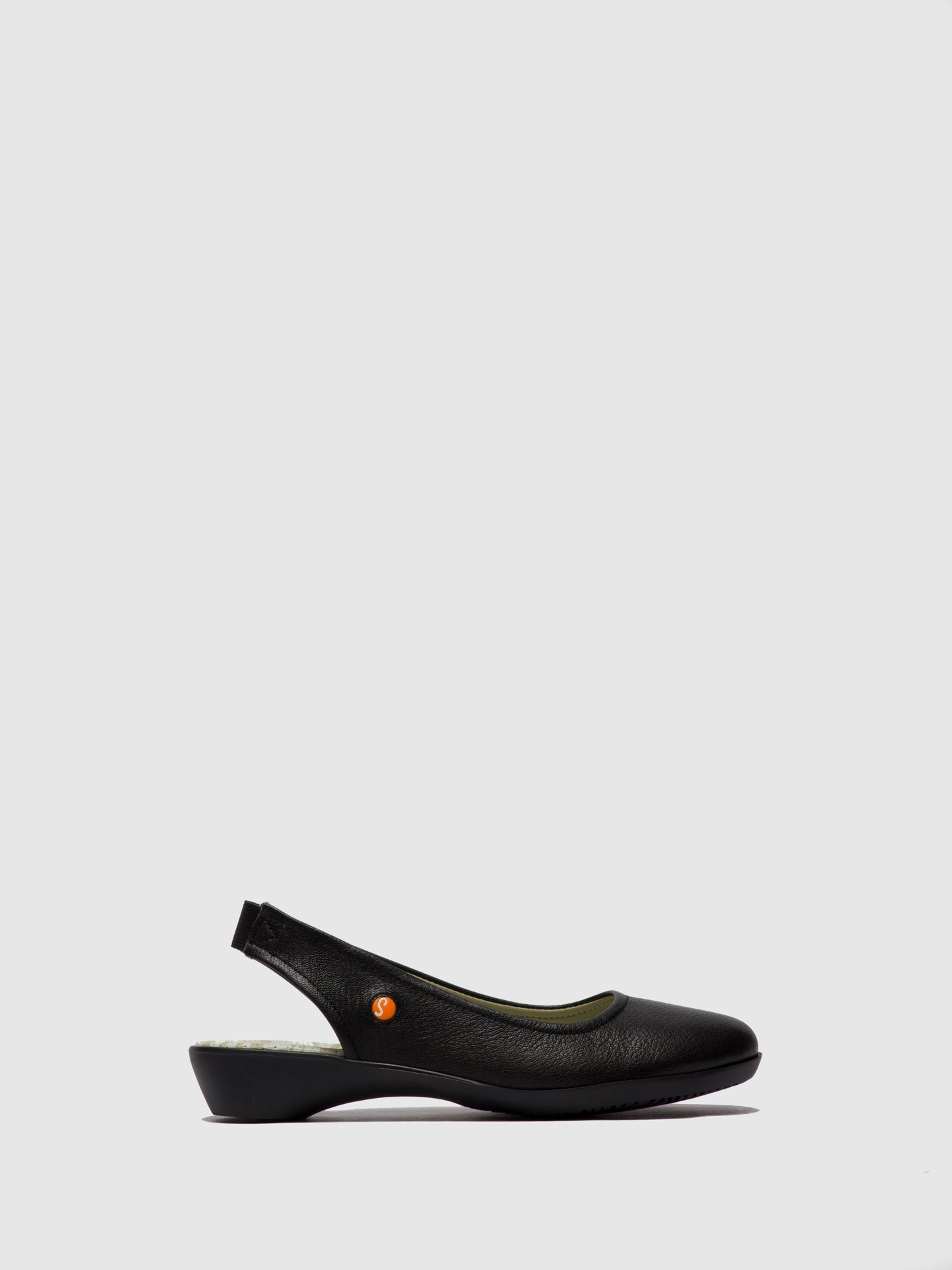 SOFTINOS Black Elasticated Shoes