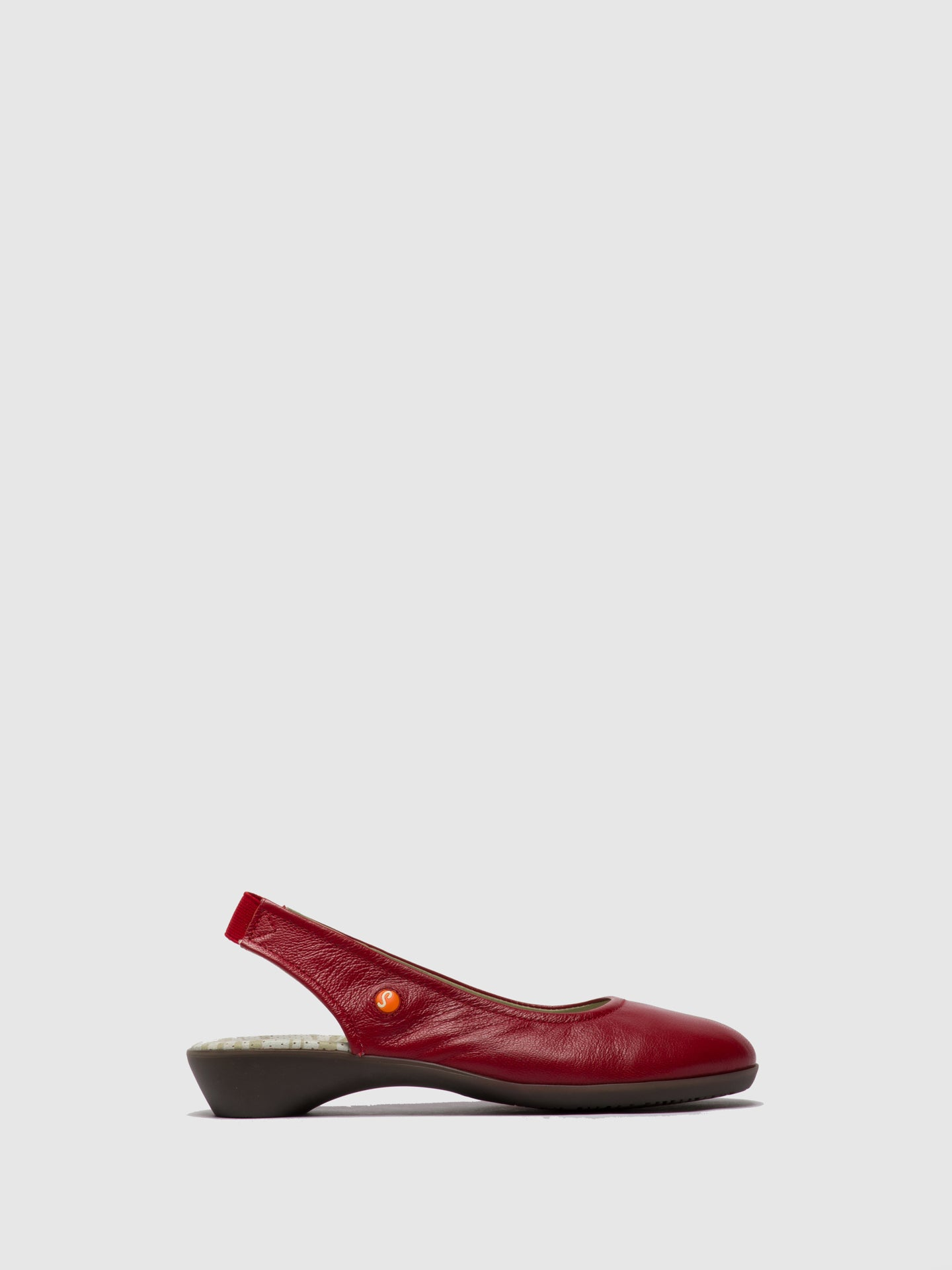 Softinos Elasticated Shoes GINY581SOF Lipstick Red