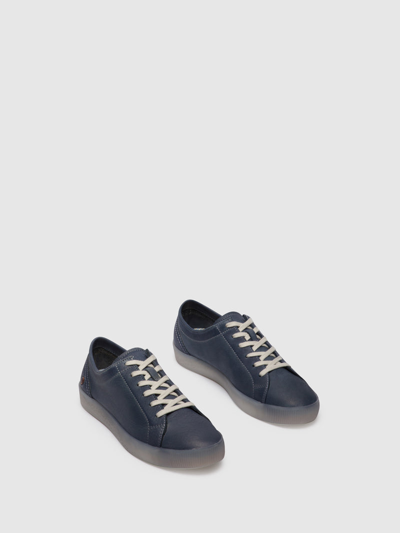 Navy Lace-up Trainers