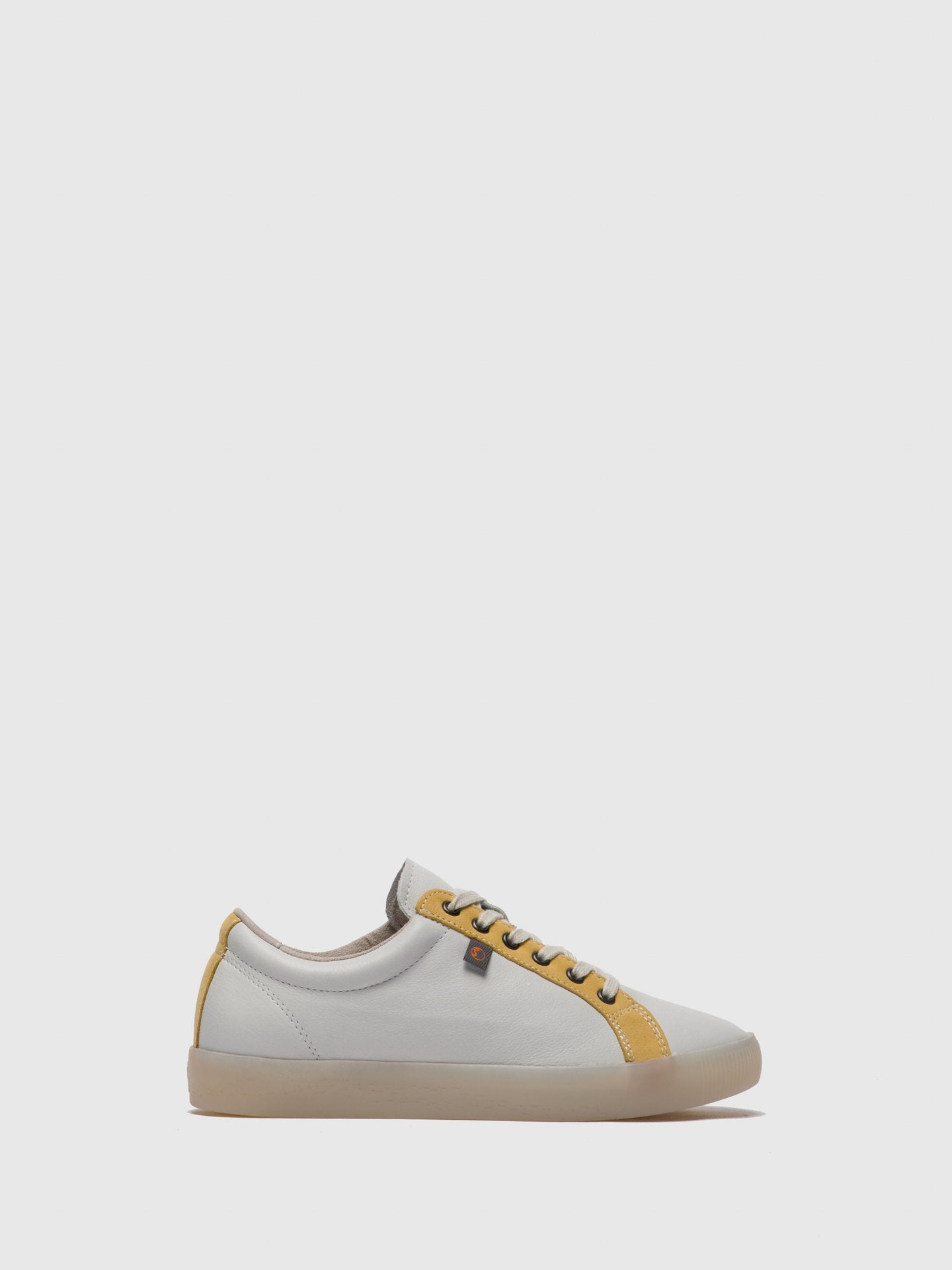 SOFTINOS Lace-up Trainers SURY585SOF White/Yellow