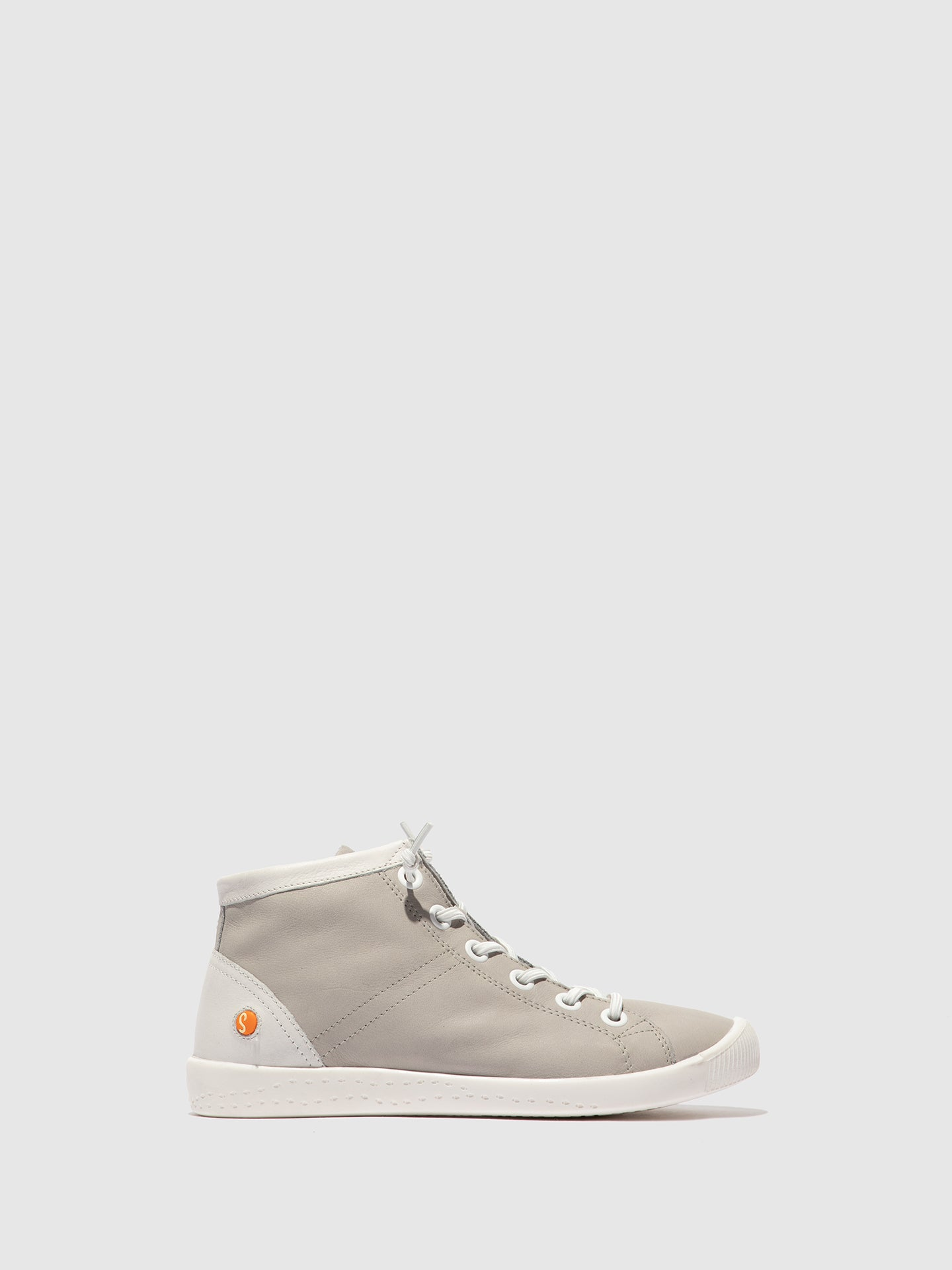 Softinos Slip-on Trainers ISLEEN 2 SMOOTH LIGHT GREY/WHITE