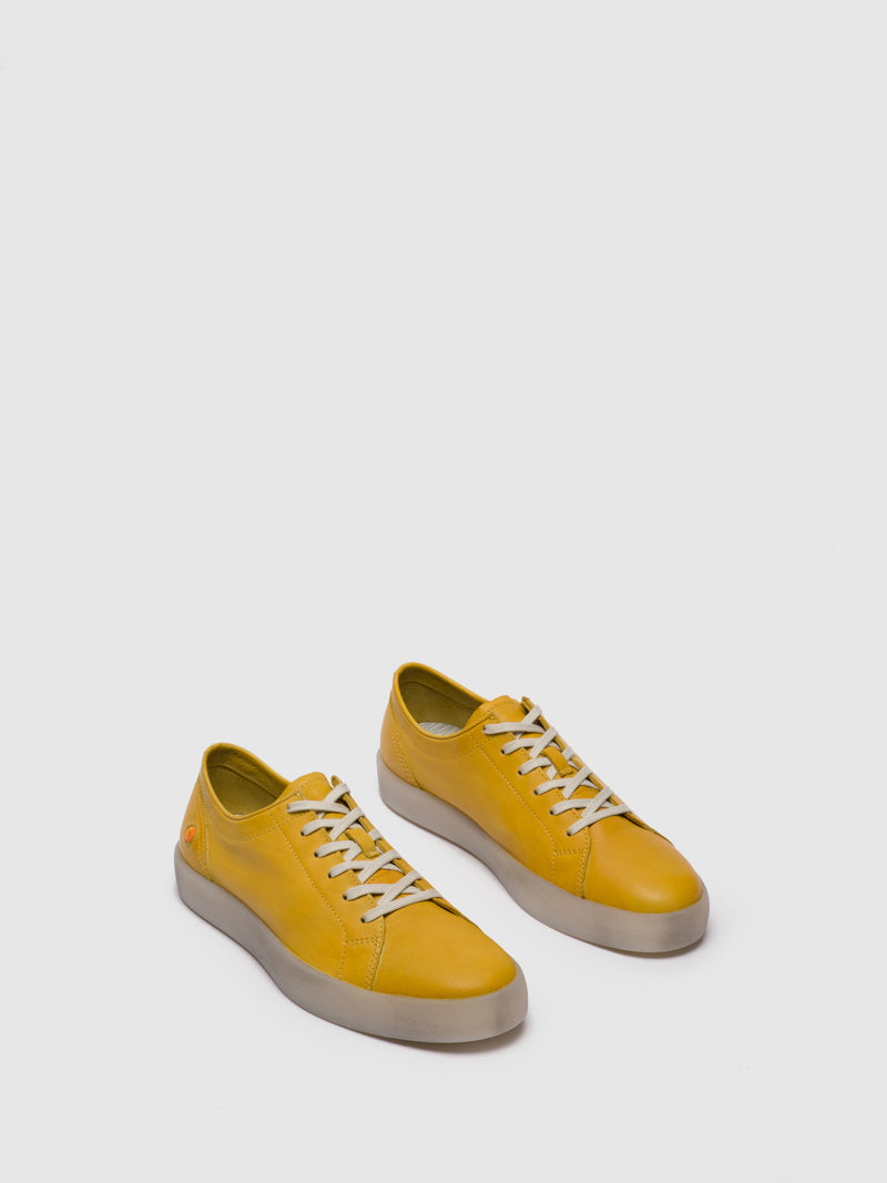 SOFTINOS Lace-up Trainers ROSS594SOF Yellow