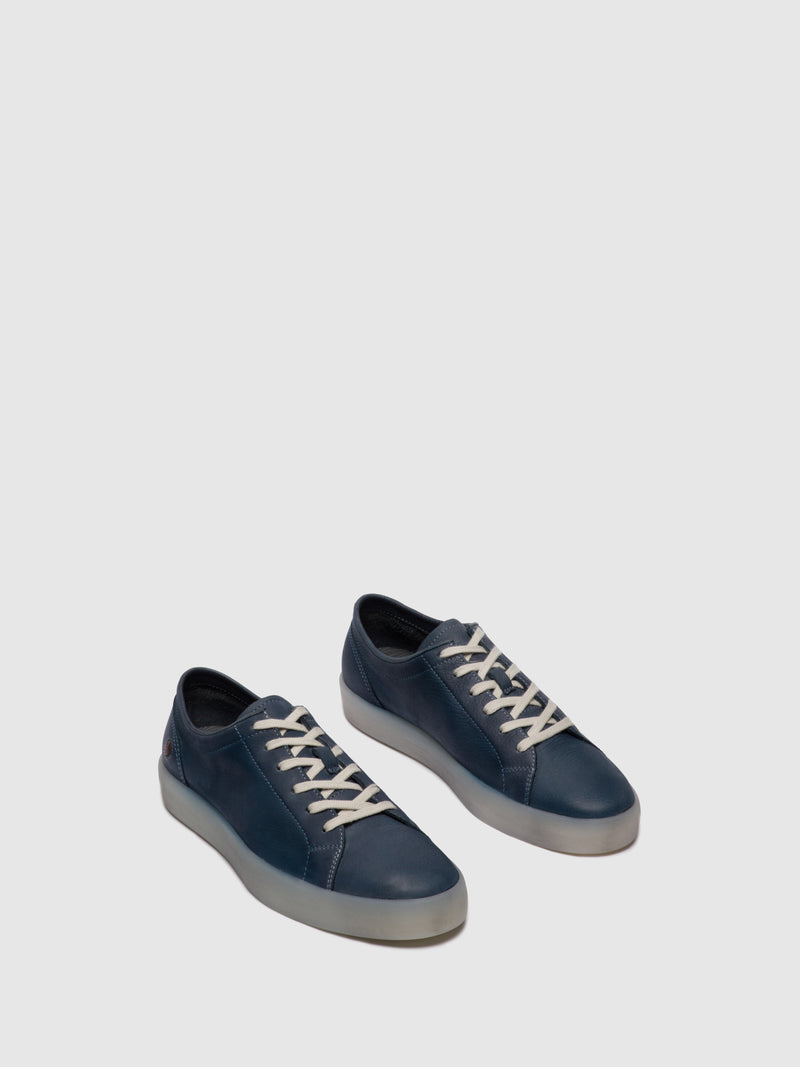 Softinos Lace-up Trainers ROSS594SOF WASHED NAVY