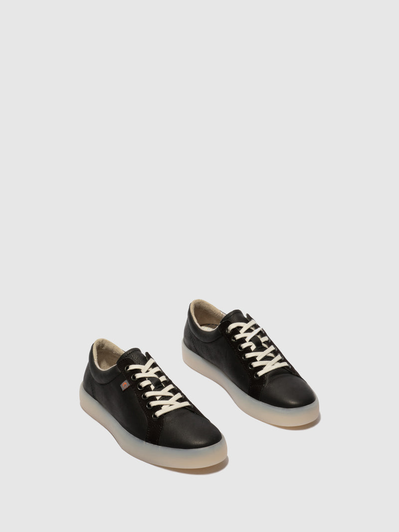 Softinos Lace-up Trainers REED595SOF Black