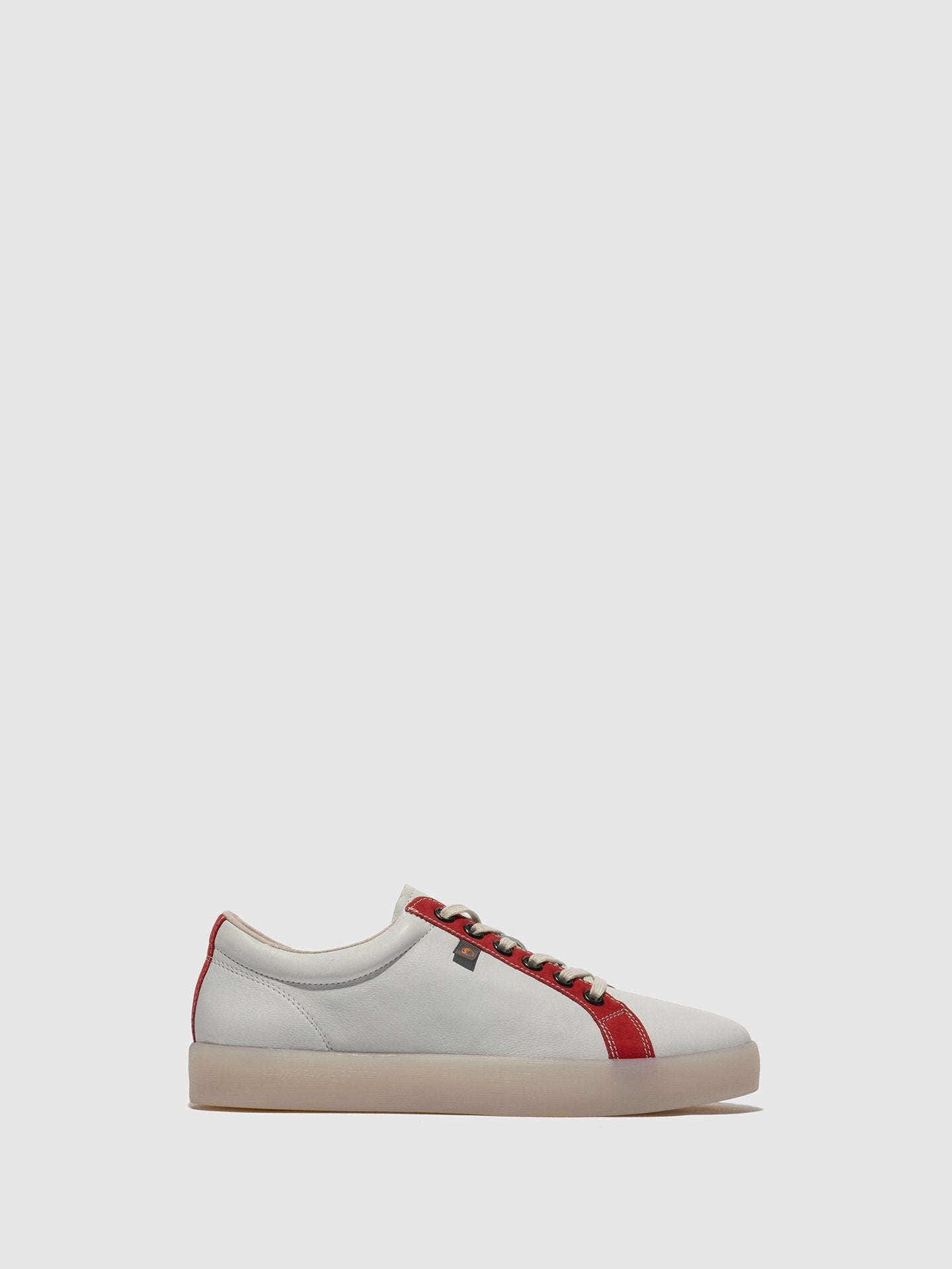 Softinos Lace-up Trainers REED595SOF White/LipstickRed