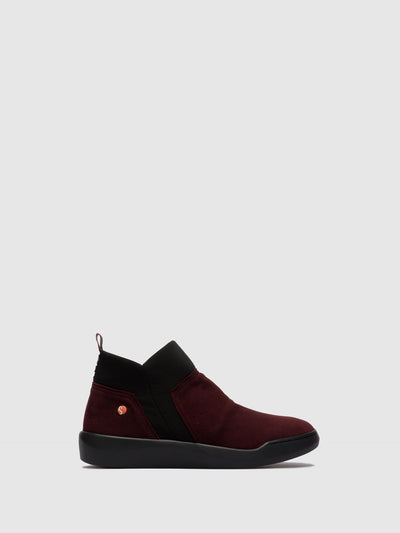 Softinos Elasticated Ankle Boots BELU598SOF WINE