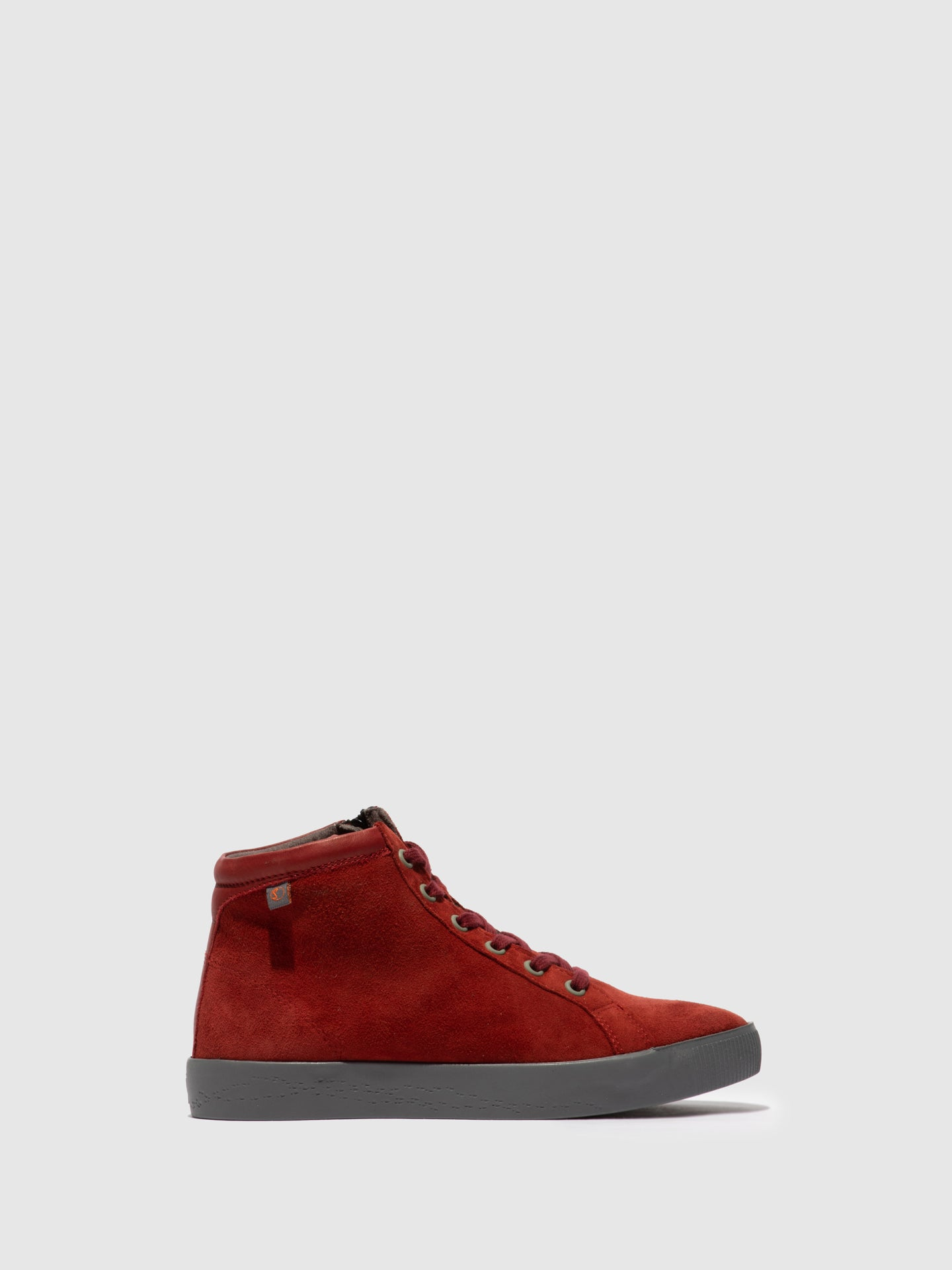Softinos Zip Up Ankle Boots SAGE602SOF RED
