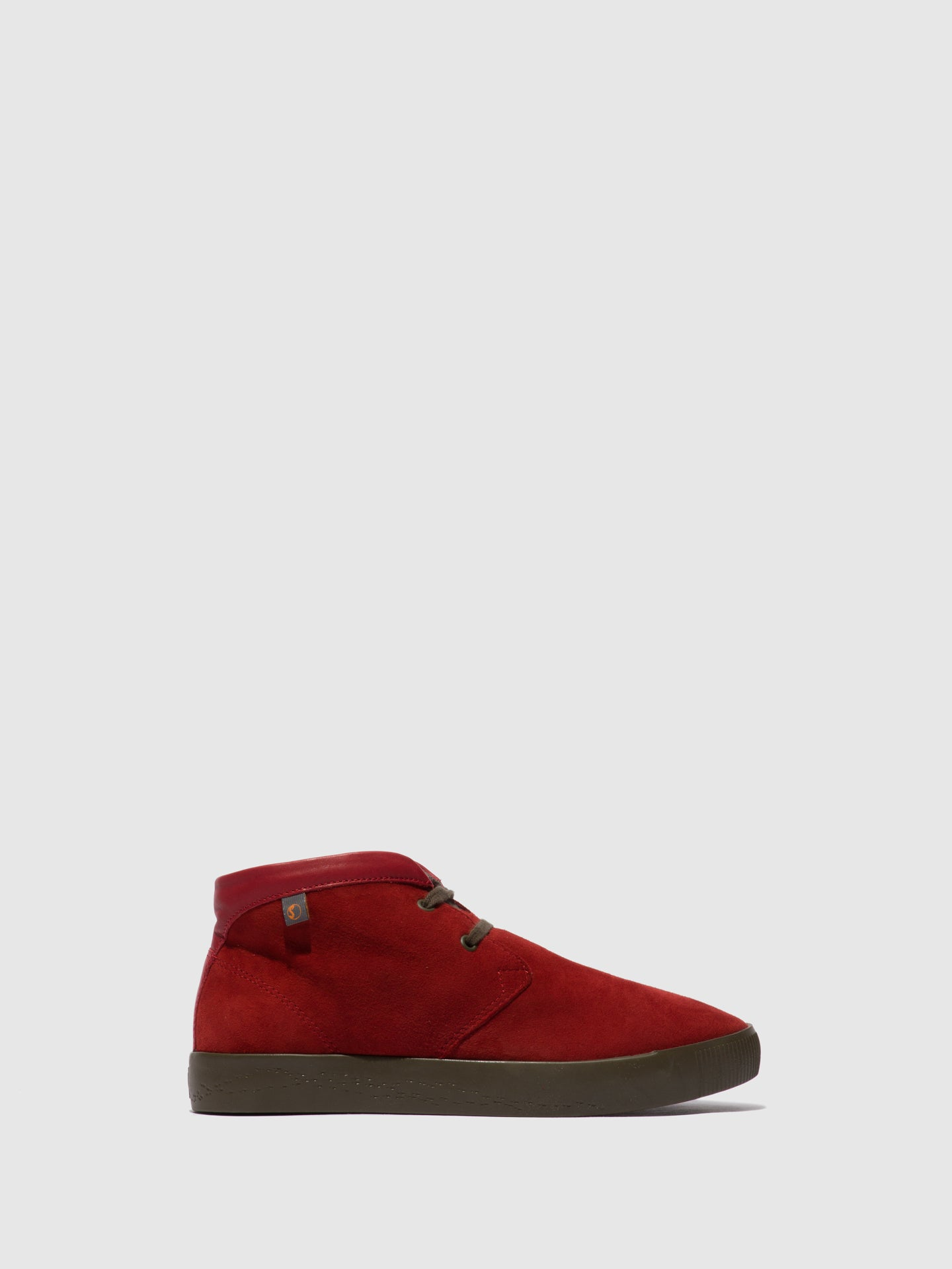 Softinos Lace-up Ankle Boots SIAL607SOF RED LEATHER