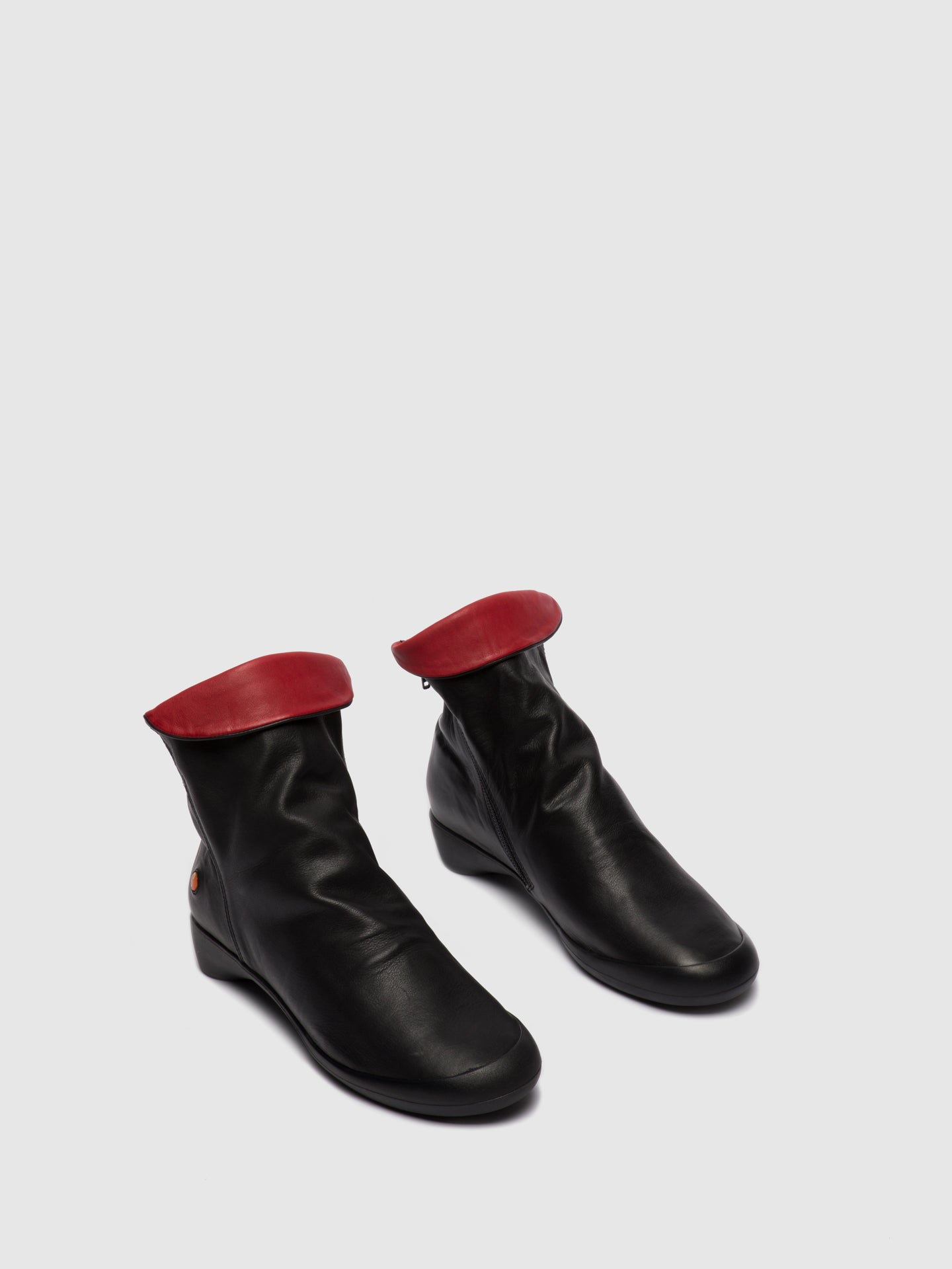 Softinos Zip Up Ankle Boots FIEL615SOF BLACK