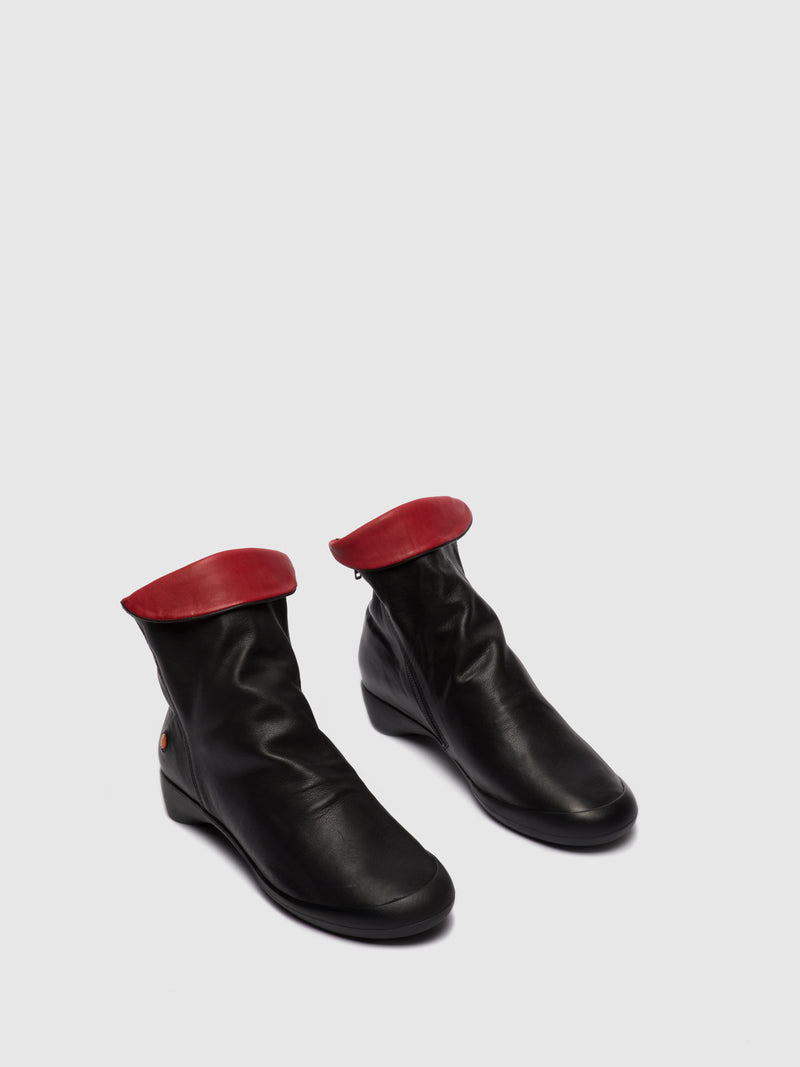 Zip Up Ankle Boots FIEL615SOF BLACK