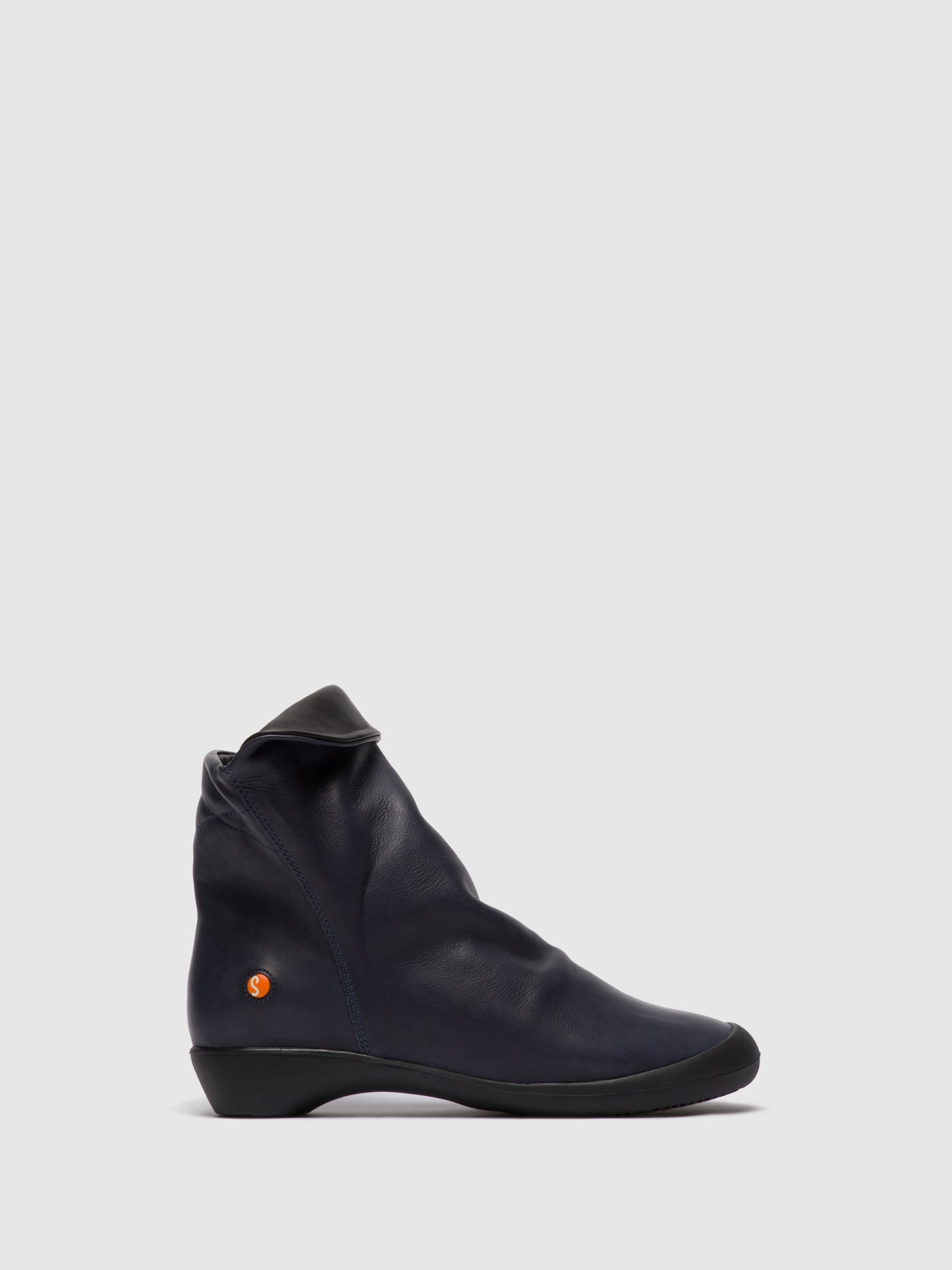 Softinos Zip Up Ankle Boots FIEL615SOF NAVY