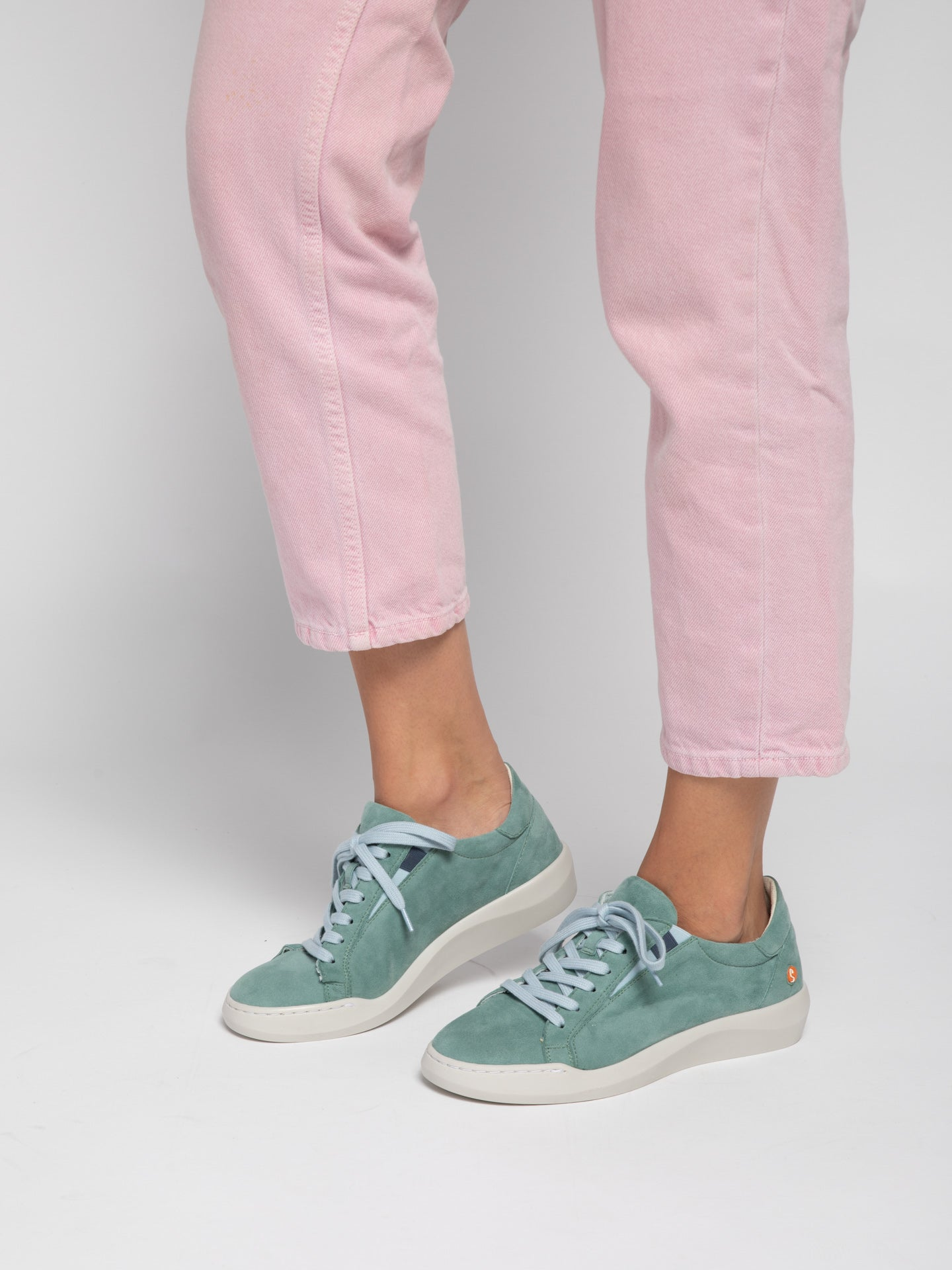 Softinos Lace-up Trainers BELV639SOF SILKY AQUA