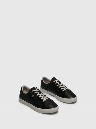Softinos Lace-up Trainers SURY585SOF Black/Black