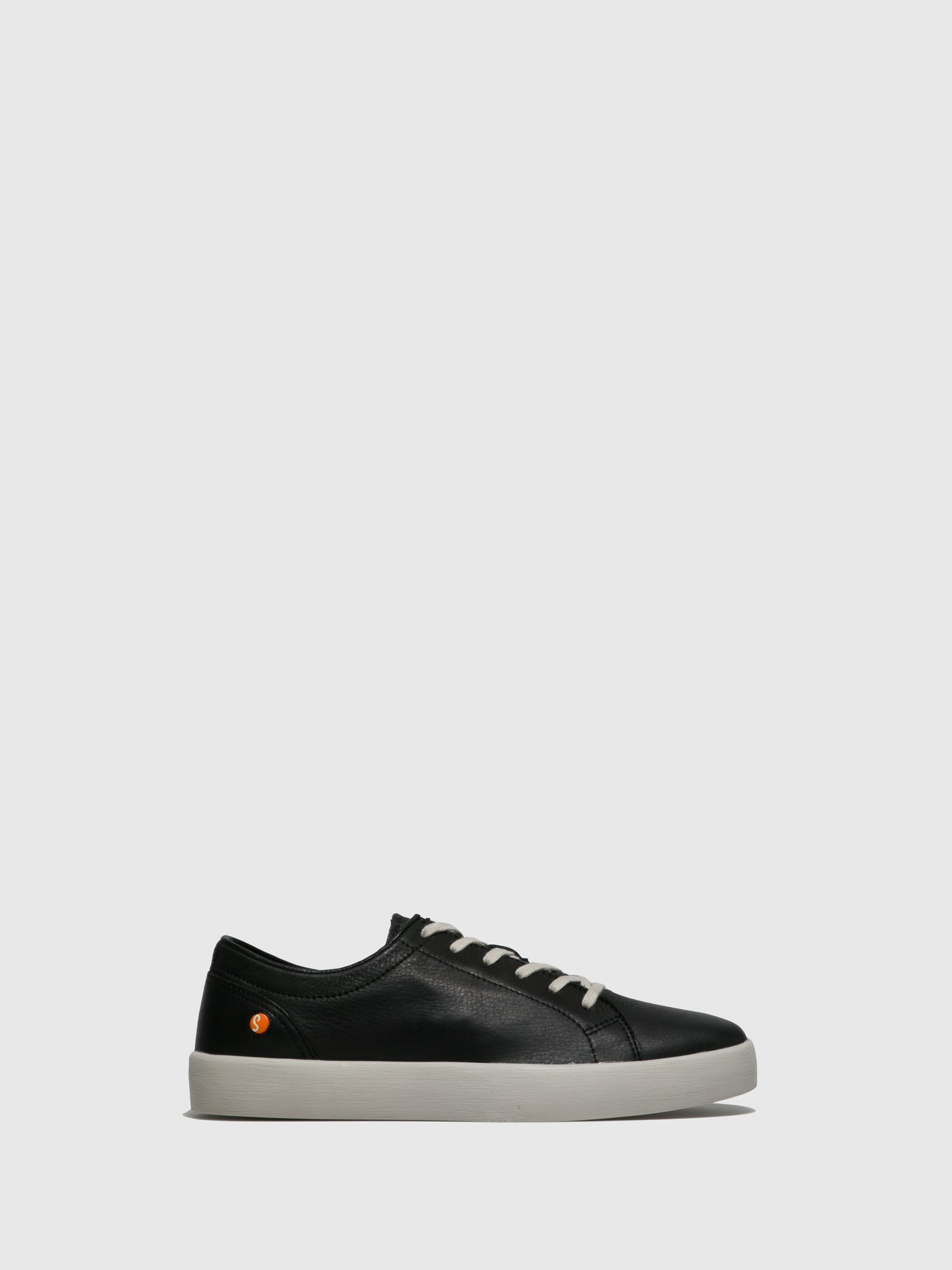 Softinos Lace-up Trainers ROSS594SOF SMOOTH BLACK