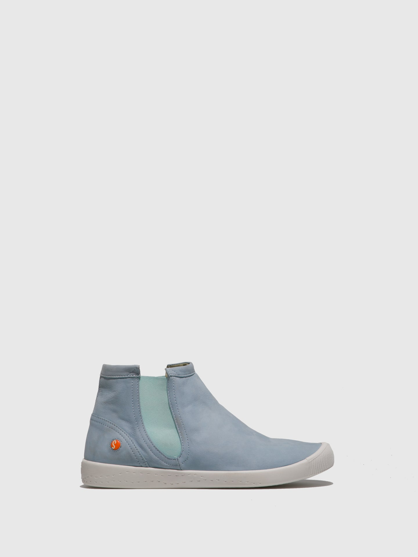 SOFTINOS Elasticated Ankle Boots ICI486SOF Baby Blue