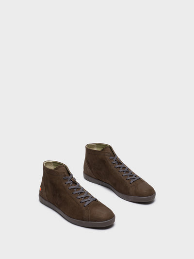 SOFTINOS Chocolate Hi-Top Trainers