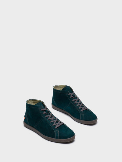 SOFTINOS DarkGreen Hi-Top Trainers