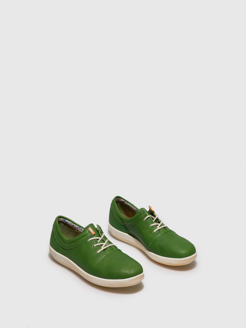 Softinos Lace-up Trainers CASY561SOF Green