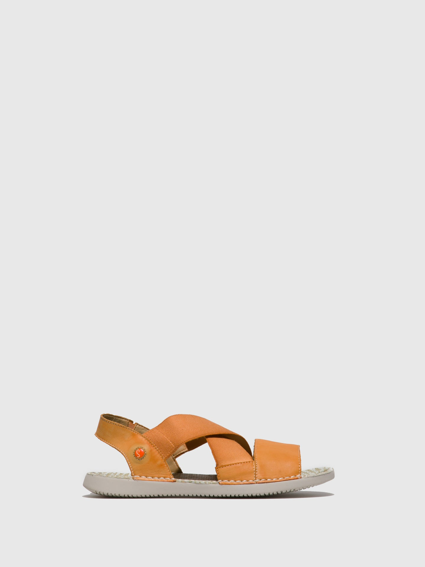SOFTINOS Orange Crossover Sandals