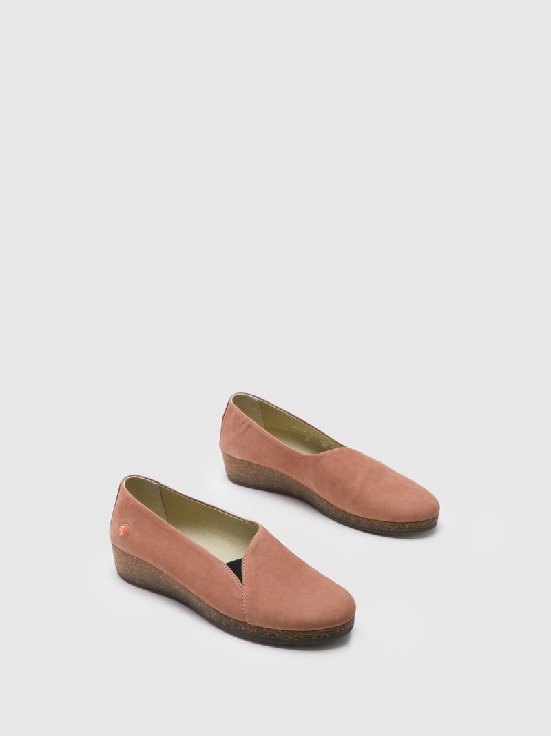 Pink Wedge Shoes