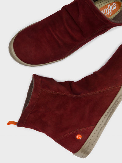 SOFTINOS DarkRed Sock Ankle Boots