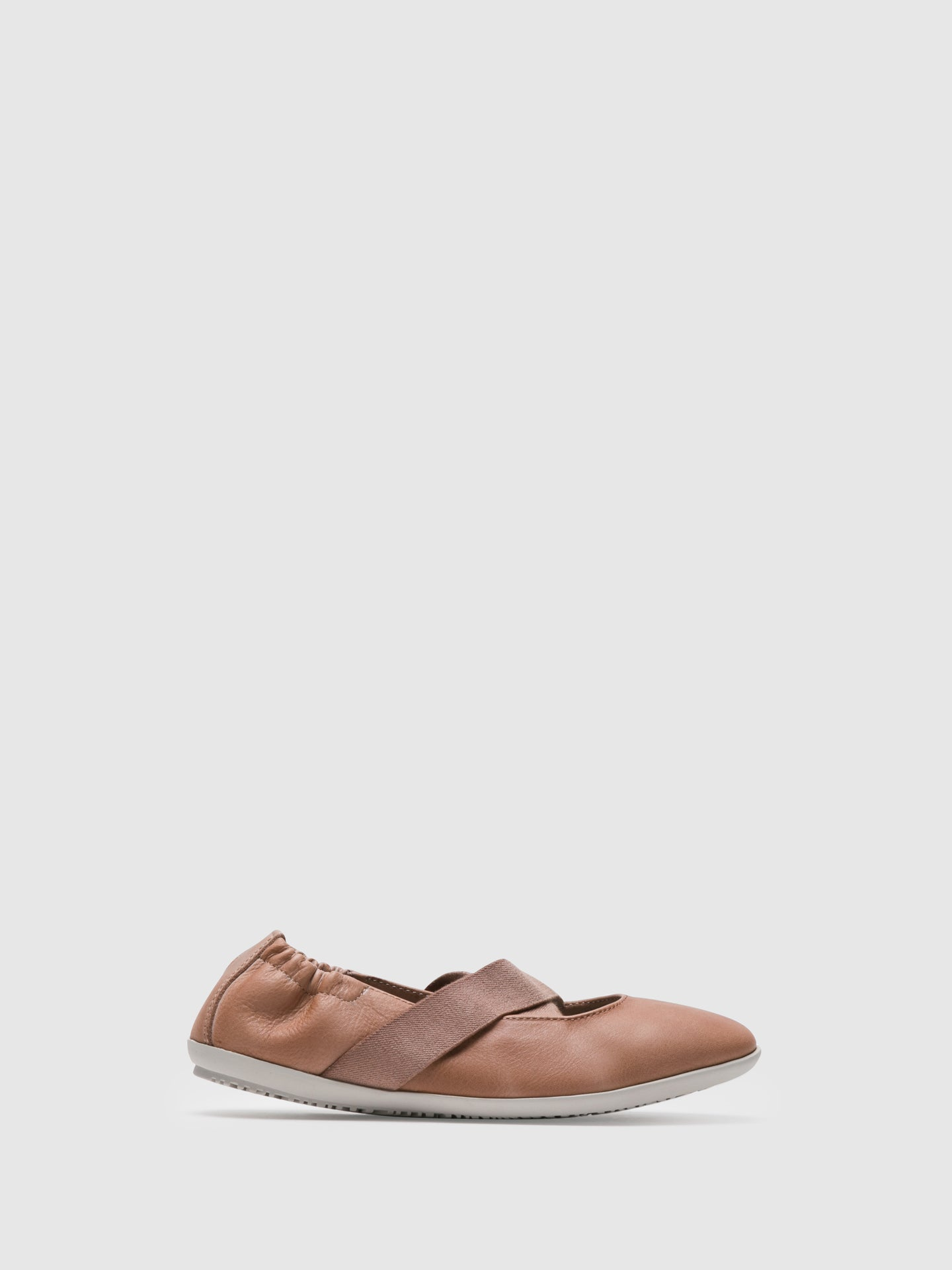 SOFTINOS DarkSalmon Elasticated Ballerinas