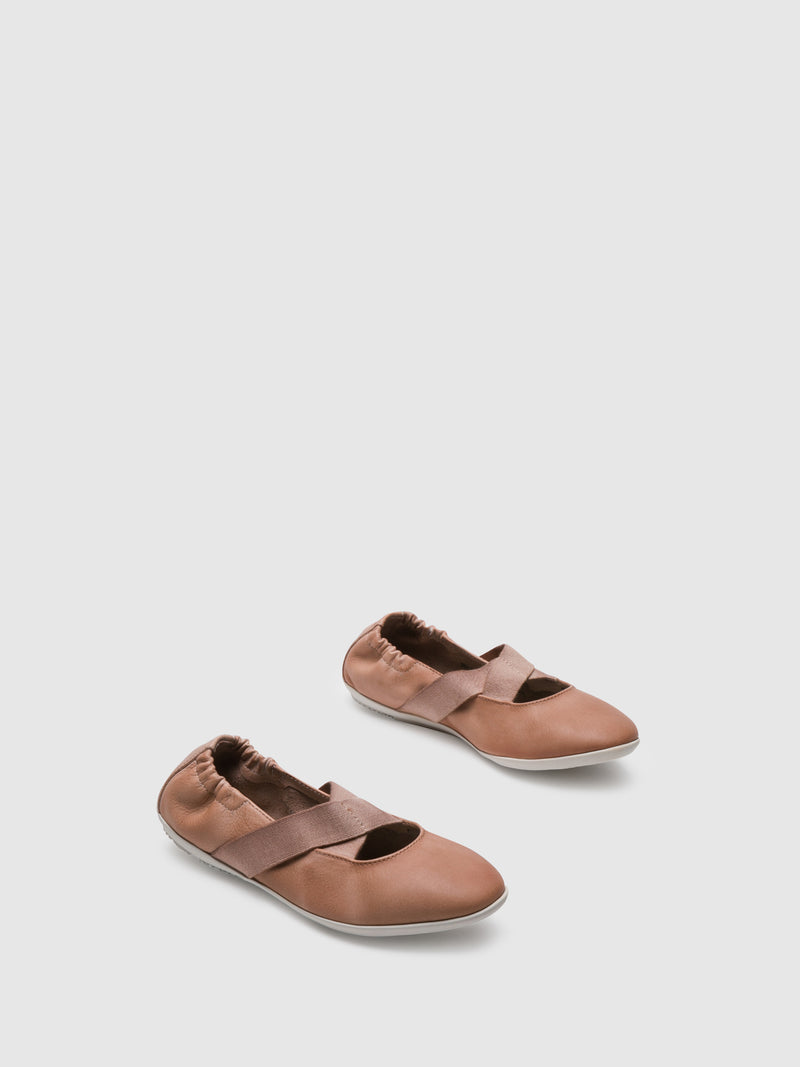 DarkSalmon Elasticated Ballerinas